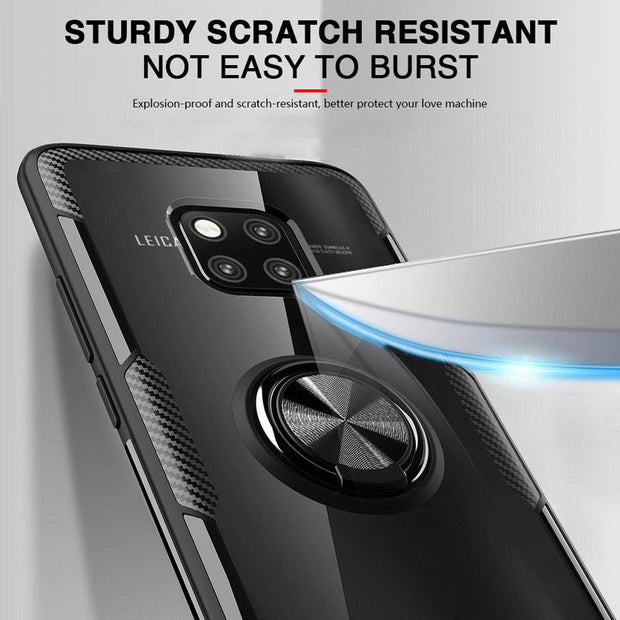 Bumper Case For Huawei Honor 8x Case Hard Soft Clear Cover For Huawei Mate 20 Pro Lite Honor 8x Max 7x 10 Play Case Ring Holder