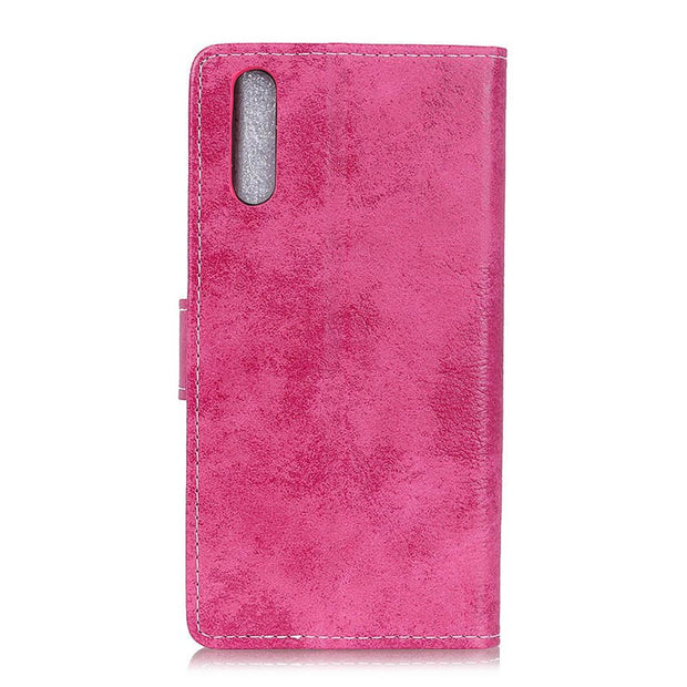 Business Vintage Matte PU Leather Flip Cover Stand Case For Sony Xperia L3 Magnetic Snap Wallet Card Money Slot Case For Sony L3
