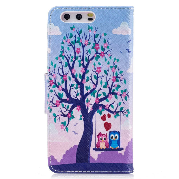 Butterfly Flip Case For Huawei P10 VTR-L29 VTR-L09 Case Giant Panda Painted Phone Leather Cover For Huawei P10 VTR L09 L29 Cases