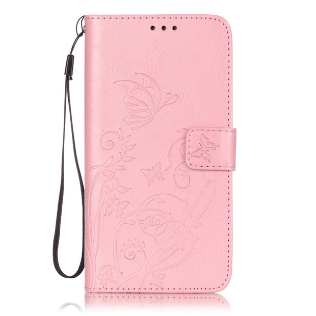 Butterfly Flower For Samsung Galaxy S6 Edge Plus Leather Case Flip Silicone Cover Hoesje For Samsung S6 / S6 Edge / S6 Edge Plus