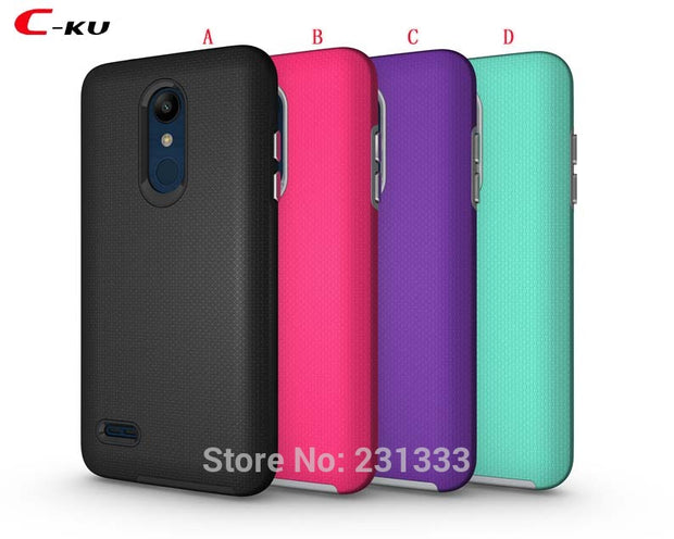 C-ku Hybrid Armor Anti-slip TPU PC Hard Case For LG K10 2018 For MOTO Motorola G6 PLAY Plating Key Shockproof Football Skin 1pcs