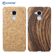 CAPAS Case For Huawei Honor 5C Cover For Huawei Honor 7 Lite GT3 Wood Pattern Coating Carbon Fiber Pattern Protective Shell Case