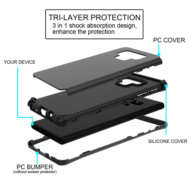 CASEWIN Mobile Phone Cases For Samsung Galaxy Note 9 Fitted Case Dual Layer TPU+PC Hybrid Cover Shockproof Protective Cover