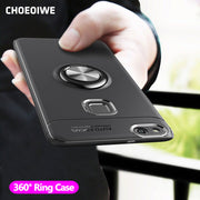 CHOEOIWE For Huawei P10 Lite P10lite P10 Case Stand Magnetic Ring Holder Soft Silicone Back Cover For Huawei P10 Plus Phone Case