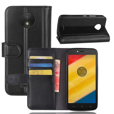 CYBORIS For Motorola Moto C Plus Case 5.0 Genuine Leather Case For Motorola Moto C Plus XT1723 XT1724 Flip Cover For MOTO C 2017