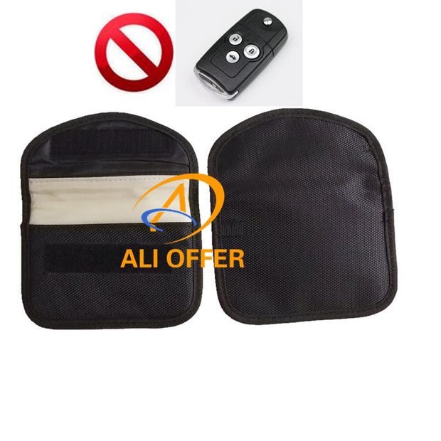 Car Keyless Blocking Bag,RFID Signal Shielding Block Jammer Pouch,Car Protector Anti Car Thief,Remote No React,Car Can Not Open