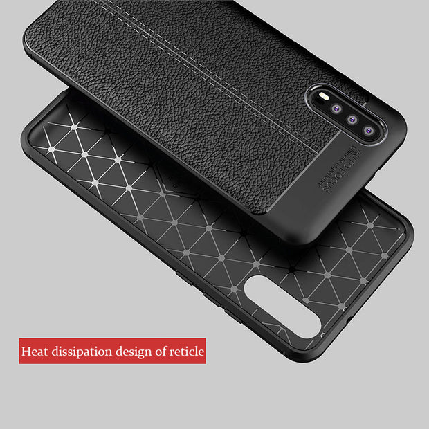 Carbon Fiber TPU Leather Case For Huawei P20 Pro Soft Full Cover Silicone Shockproof Back Cover For Huawei P20 Case