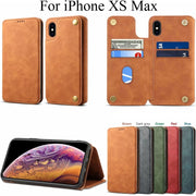 Card Slot Stand Cover For IPhone XSMax Casing Pouch Soft TPU Vintage Shell For IPhone XS Max Bag Sleeve Holder Fundas Capa