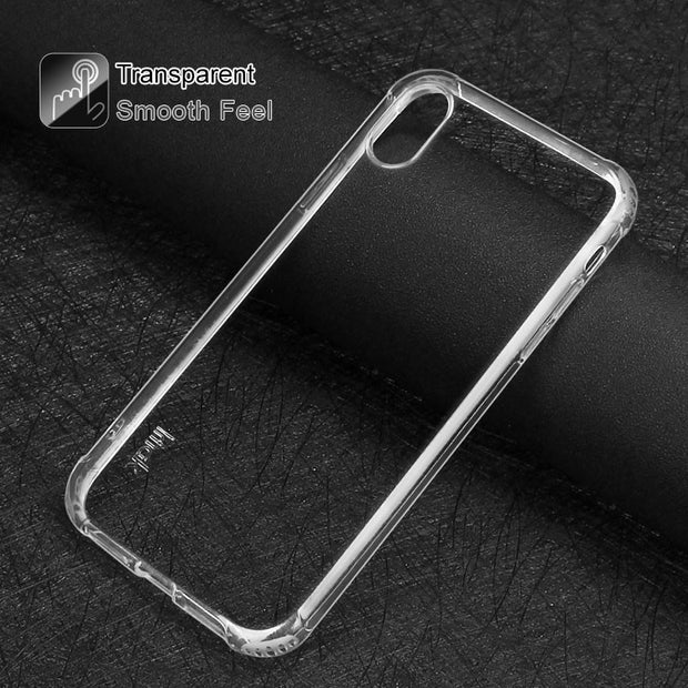 Case For Apple IPhone XS MAX IMAK Airbag Version Shockproof Silicone Soft TPU Back Cover SFor IPhone XS MAX Case With Film