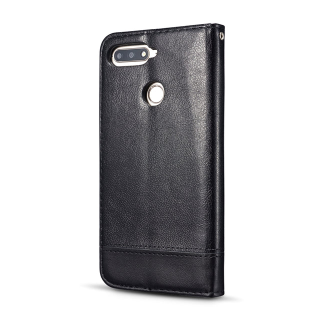 Case For Coque Huawei Y6 2018 Case Leather Flip Cover For Fundas Huawei Y6 2018 Capinha Wallet For Huawei Y6 2018 Cases Etui