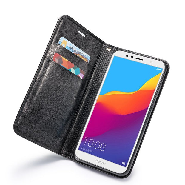Case For Coque Huawei Y9 2018 Case Leather Flip Cover For Fundas Huawei Y9 2018 Capinha Wallet For Huawei Y9 2018 Cases Etui