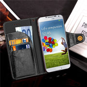 Case For Samsung Galaxy S4 I9500 SIV Luxury Leather Silicon Flip Wallet Phone Cover For Coque Samsung Galaxy S4 Case S 4 Fundas