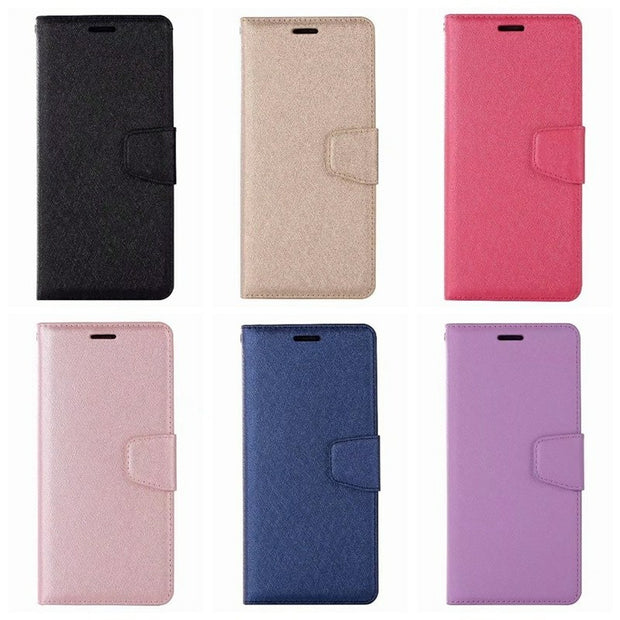 Case For Sony L2 XA1 XA2 Ultra XZ2 C6 XZ1 Compact Plus Leather Wallet Luxury Silk Flip Cover Card Slot Magnetic Pouch
