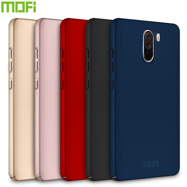 Case For Xiaomi Pocophone F1 MOFi Brand Luxury 360 Full Body Cases Hard Frosted PC Back Cover For Xiaomi Poco F1