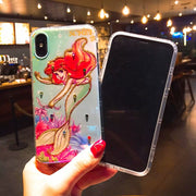 Case For IPhone X 7 8 6S Plus Cartoon Glitter 3D Relief Cute Mermaid Princess Phone TPU Cover Back For IPhone 6 7plus 8 Plus