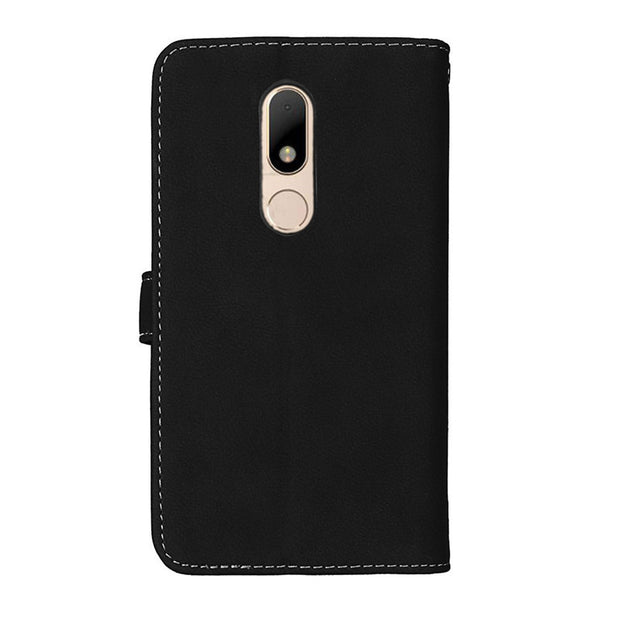 Case Luxury 9 Card Slot Vintage Leather Phone Cases For Moto M Flip Magnetic Stent Photo Frame Wallet Phone Cover For Motorola M