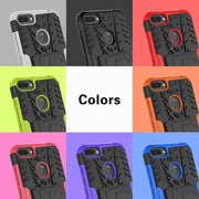 Case For Huawei Honor 9i 2018 Tire Pattern Anti-Skid Hybrid TPU+PC Detachable Shockproof Slim Armor Fundas Back Cover Shell