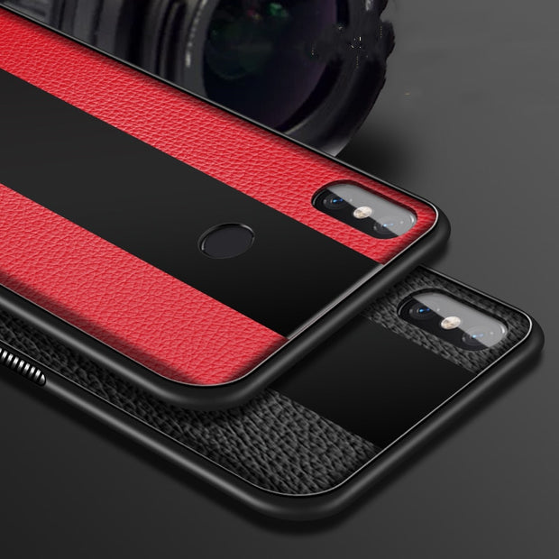 Case For Xiaomi Mi 8 Lite Glass Case Leather Luxury Black Plexigless TPU Edge Back Cover Mi8 Lite Mi 8 Se Explorer Edition Cases