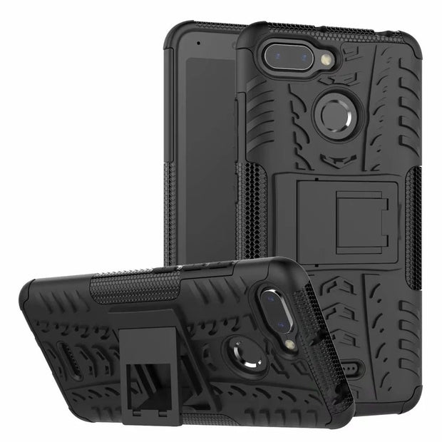 Case For Xiaomi Redmi 6 Hybrid PC+TPU Shockproof Kickstand Phone Case Cover