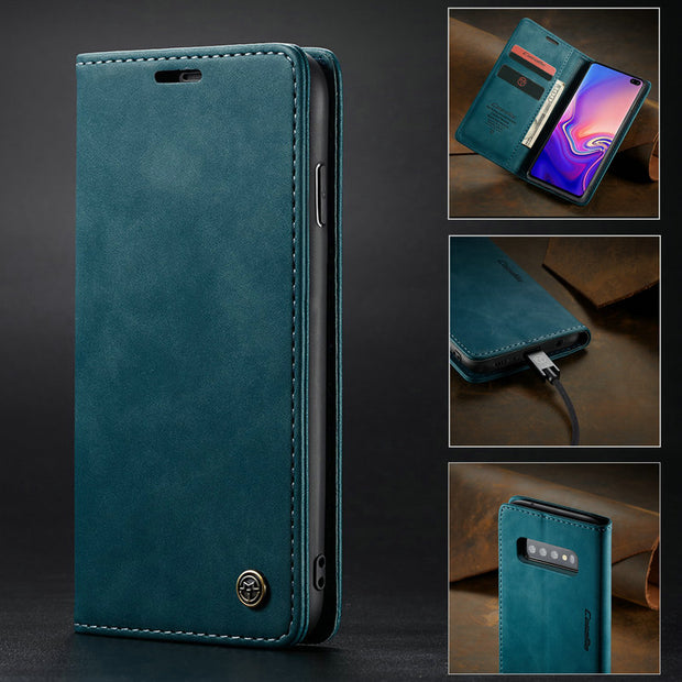 CaseMe Case For Samsung Galaxy S10 Plus Flip Cover Card Holder Slim Magnetic Retro Leather Wallet For Samsung S10e Phone Case