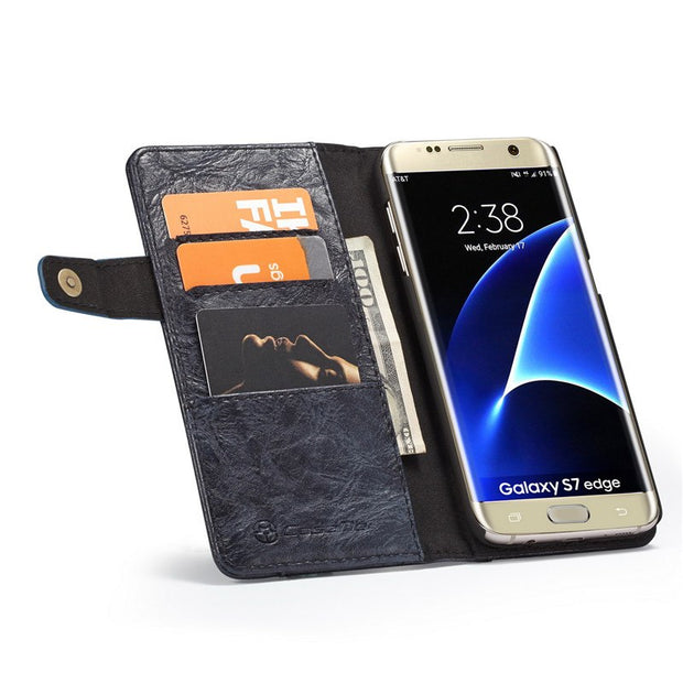 Caseme For Samsung Galaxy S8 Plus Flip Cover Wallet Leather Case For Samsung Galaxy S7 Edge Phone Case Cover With Card Shell