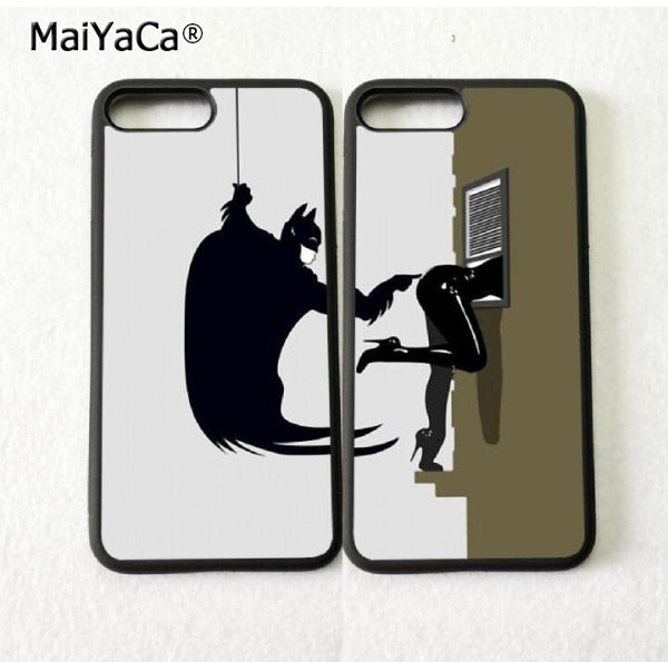 Catwoman And Batman Besties BFF Best Friends Soft Silicone Phone Cases For IPhone 5s Se 6 6s Plus 7 7plus 8 8plus X XR XS MAX