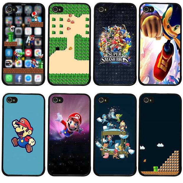 Cell Phone Cases PC Hard Plastic Cover For Iphone 8 7 6 6S Plus X XR XS Max 5S 5 SE 4 4S Case Funny Super Marios Bros Mushrooms