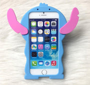 Classical 3D Cartoon Stitch Soft Silicon Cute Cover Back Phone Case For Iphone 4 4S 5 5S SE 6 6S / Plus Lovely TPU Shell Cases