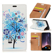 Colored Drawing Case For Motorola P40 Ladybug Owl Bird PU Leather Flip Cover Stand Wallet Card Money Slot Case For MOTO P40