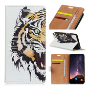 Colored Drawing Cat Tower Ladybug Tiger Cat Owl Bird Colorful IMD Patterned PU Leather Flip Cover For Xiaomi Redmi Note 7