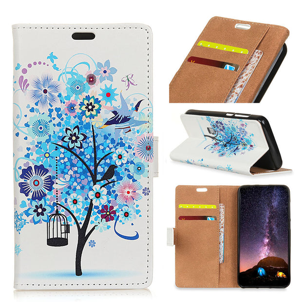 Colored Drawing PU Leather For Google Pixel 3 Lite XL IMD Flip Cover Magnetic Stand Card Money Slot Case For Google Pixel3 Lite