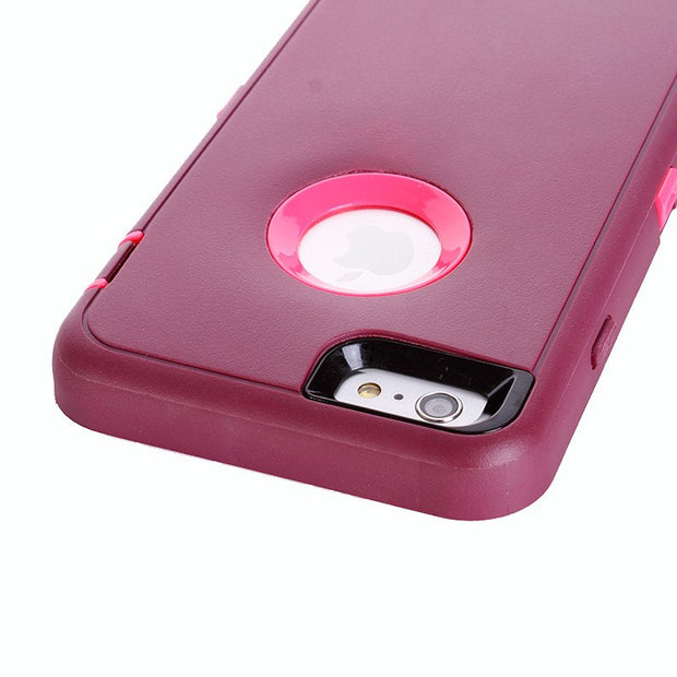 Colorful Case For IPhone6Plus 6+ Rotatable Back Clip Screen Protector Belt Clip 360 Degree Full Body Shockproof PC Hard Plastic