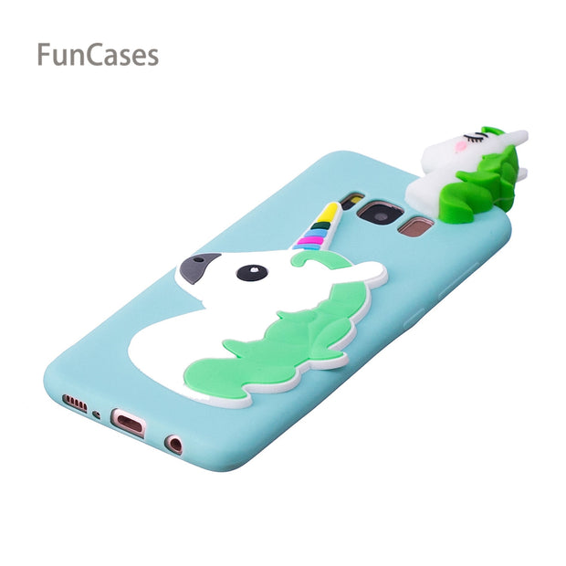 Colorful Unicorn Phone Case SFor Coque Samsung S8 Soft Silicone Back Cover Fundas Patterned Wallet Case For Samsung Galaxy S8