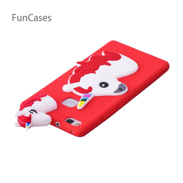 Colorful Unicorn Phone Case SFor Coverage Huawei P9 Lite Soft Silicone Back Cover Carcaso Phone Case For Huawei Ascend P9 Lite