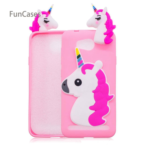 Colorful Unicorn Phone Case SFor Estojo Huawei Y3 II Soft TPU Phone Case Protective Glossy Cellphone Case For Huawei Ascend Y3-2
