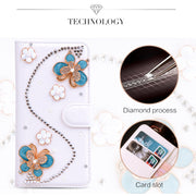 "Coque For Leagoo Shark 1 Case 6.0"" Cross Rhinestone Wallet PU Leather Cover Camellia Bowknot Glitter Fundas Soft Plastic Case"