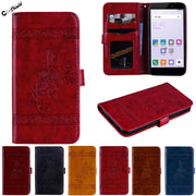 Cover For Xiaomi Redmi 4 X Case Phone Bumper Fitted For Xiaomi Redmi X4 Red Case Mi 4X Plastic Frame Flip Luxury Leather Coves