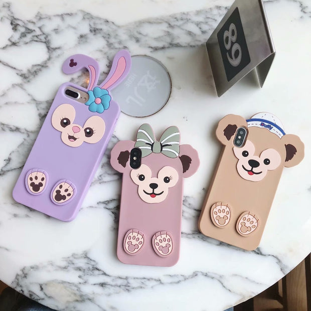Cute 3D Cartoon Soft Silicone Phone Case For IPhone X 8 8pluis 7 7 Plus Shell Monkey Gog Chick Rubber Cover For IPhone 6 6S Plus