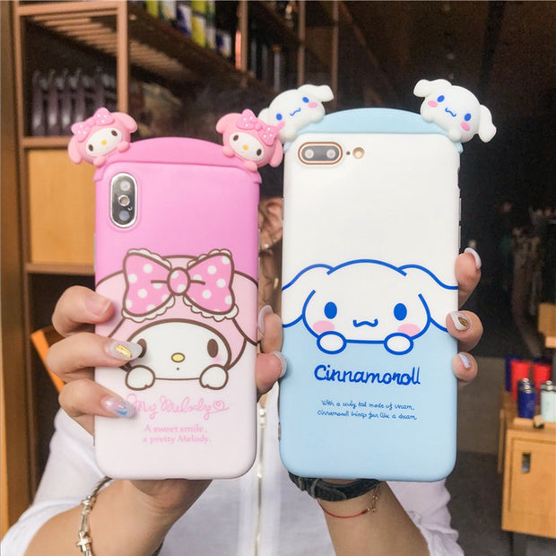 Cute 3D Phone Case/bow-knot Camera Pig Cover For Iphone X /XS 6s 8 For IPhone 7plus 8 6 6S 6Splus Tata /Apeach/soft Back Cover