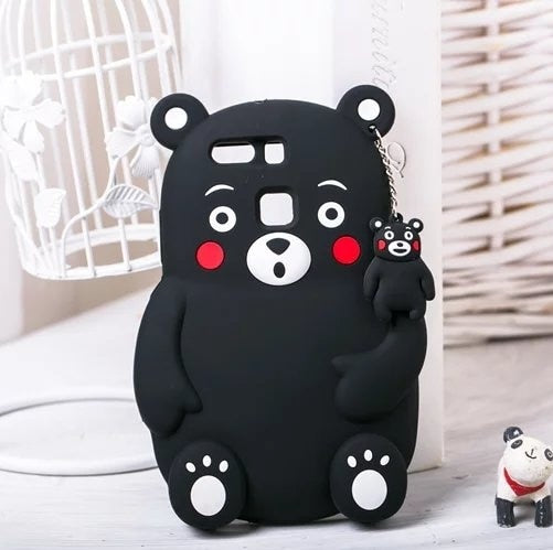 Cute Cartoon Bear Kumamon Soft Tpu Silicon Cover Case For Huawei Ascend P7 P8 P9 Enjoy 5s GR3 Honor 5c Huawei P10 Lite P10 Plus
