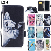 Cute Cat Pineapple Painted Flip Wallet PU Leather Case For Apple IPhone XS Max XR 5 5S SE 5C 6S 7 8 Plus Stand Card Slots Shell