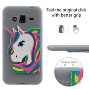 Cute Unicorn Case SFor Capa Samsung J3 Soft Silicone Back Cover Celular Geometric Fitted Case SFor Samsung Galaxy J310 J3 2016