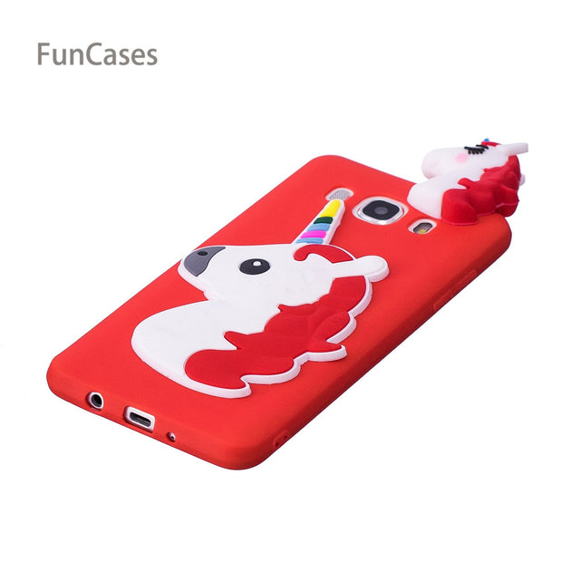 Cute Unicorn Phone Case SFor Capa Samsung J510 Soft TPU Back Cover Shell Plain Phone Case For Samsung Galaxy J5 2016 Buckle Cell
