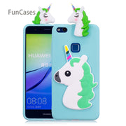Cute Unicorn Phone Case SFor Carcasa Huawei P10 Lite Soft Silicone Back Cover Mobile Phone Case For Huawei Ascend P10 Lite