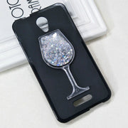 Dneilacc For Alcatel Pop 4 Plus Silicone Case Dynamic Glitter Liquid Quicksand Lovely Wine TPU Phone Cover Pop 4 Plus