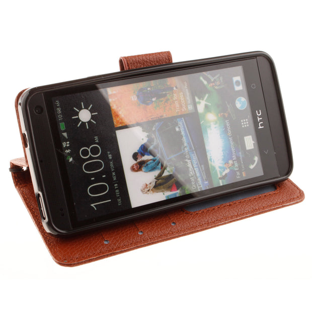 Double Magnet Flip Case For HTC One M7 M 7 Dual Sim 801e 801 E Photo Frame Cover Flip Phone Leather Case For HTC One1 802w 802 W