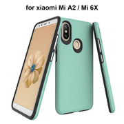 Dual Layer Hard PC Soft TPU Bumper Shockproof Cases For Xiaomi Mi A2 6X Triangle Patterned Phone Accessories Cover Rugged Armor