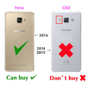 Electroplating Hard Mirror Flip Cover Clear View Transparent Case For Samsung Galaxy A5 2016 A510 A510F