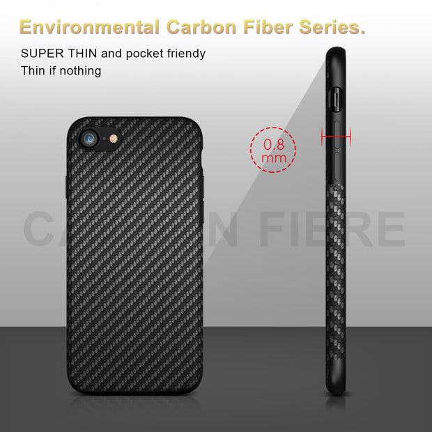FLOVEME Carbon Fiber Case For IPhone 7 8 Plus Cases Twill Skin Hybrid Silicone Case For IPhone 5 5s SE 6 6s Plus 7 8 Plus Coque
