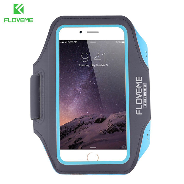 FLOVEME For IPhone 7 6 6s Plus Case Sport Pouch Fashion Outdoor Running Arm Band Pouch Belt Running GYM Bag Capa Cover